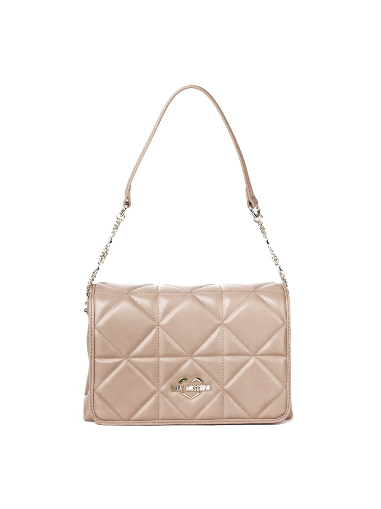 Love Moschino Love Moschino Quilted Ecoleather Bag - Taupe