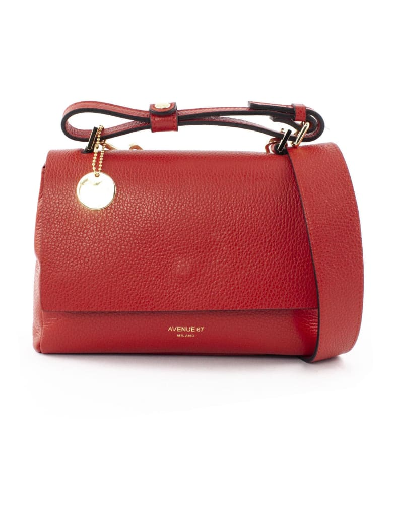 Avenue 67 Elettraxs Red Leather Bag - Rosso