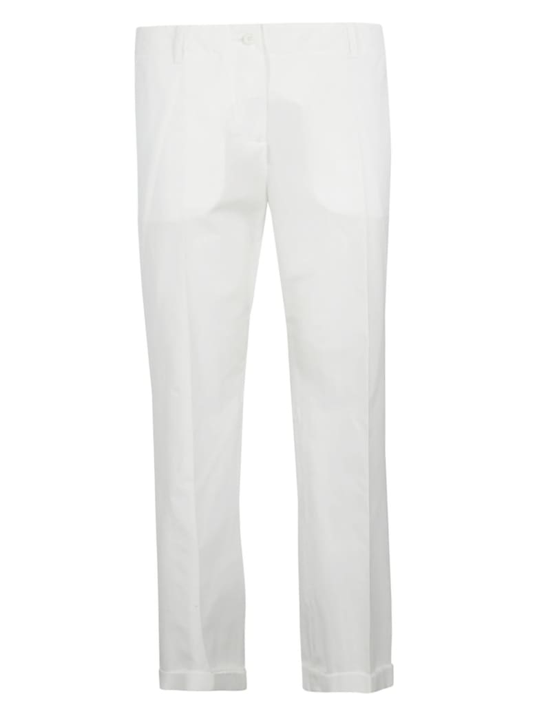 Aspesi Straight Fit Trousers - White