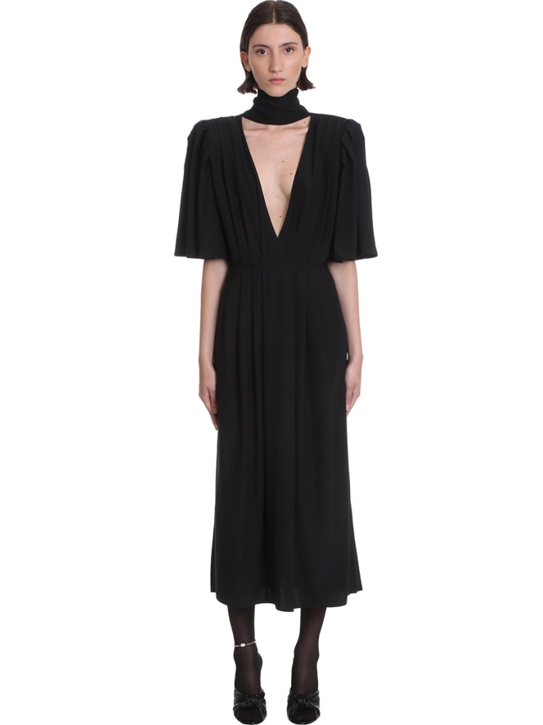 Magda Butrym Dress In Black Silk - black