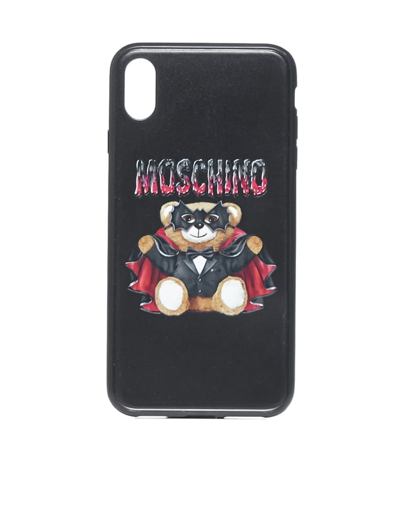 Moschino Iphone Xs Max Bat Teddy Hi-tech Accessory - Fantasy print black