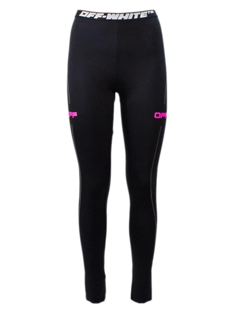 Off-White Black Stretch Technical Leggings - Nero