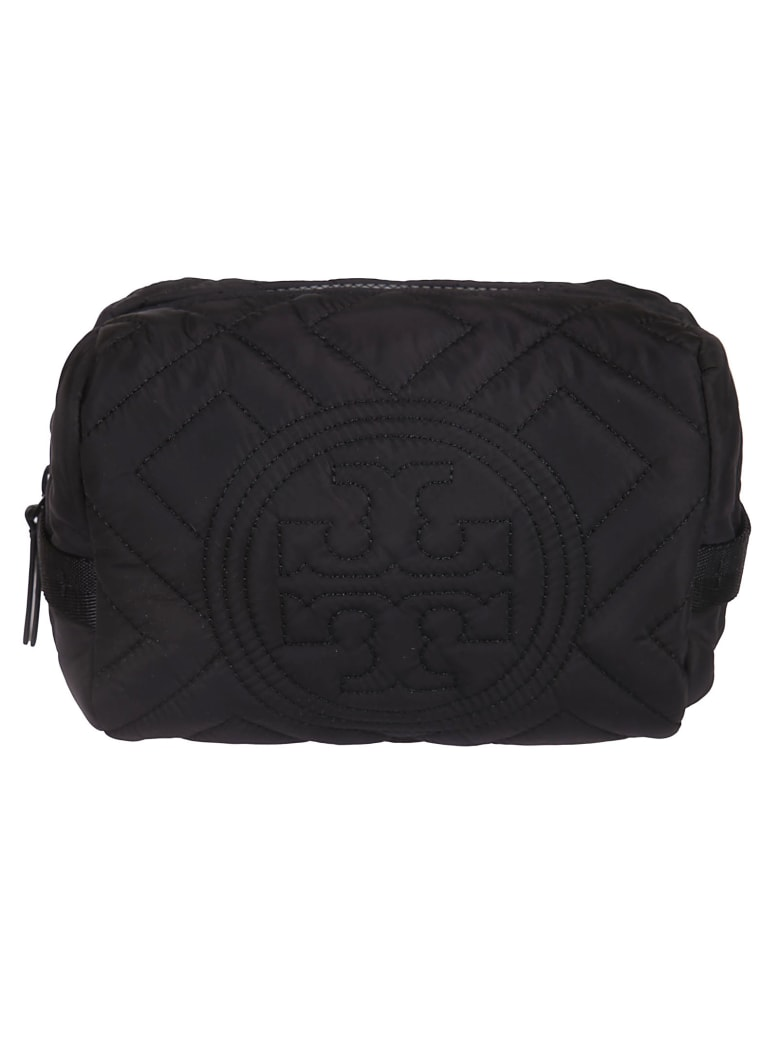 Tory Burch Fleming Quilted Nylon Clutch - Black