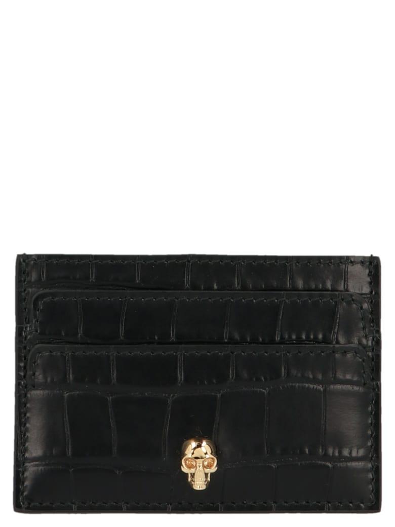 Alexander McQueen 'skull' Cardholder - Black