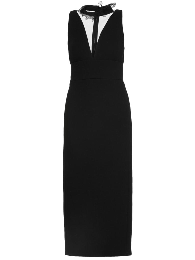 David Koma Crepe Dress - BLACK