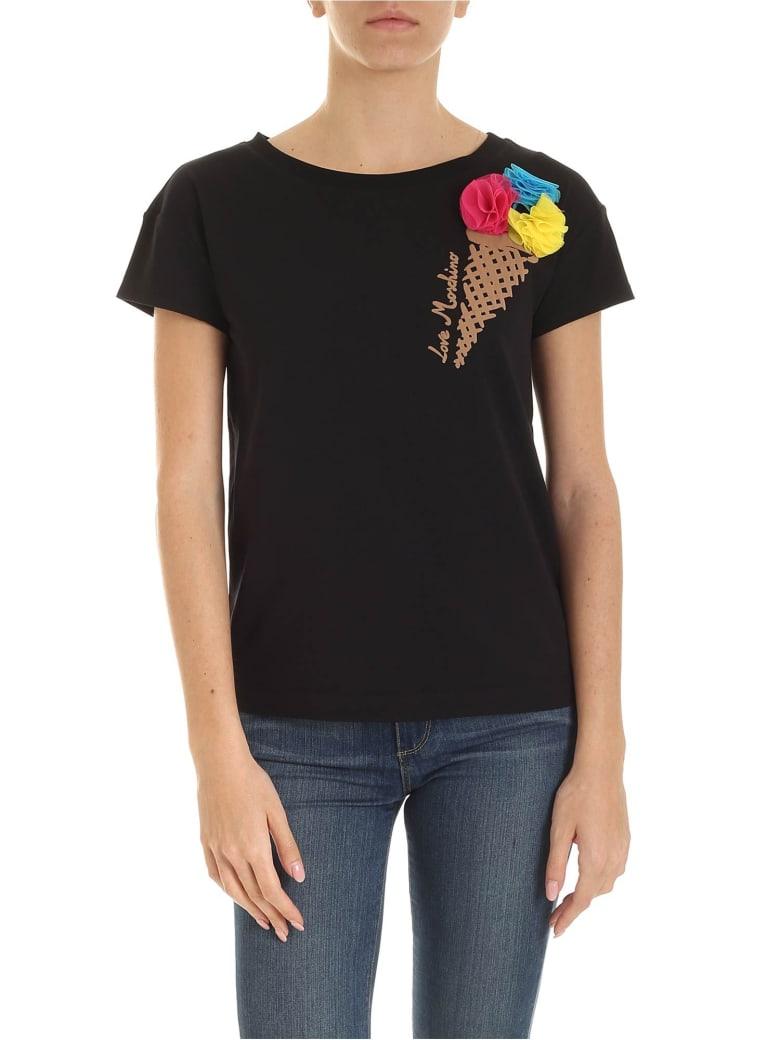 Love Moschino Ice Cream T-shirt - Nero