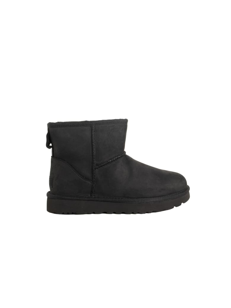 UGG Mini Classic Leather Boot - Black