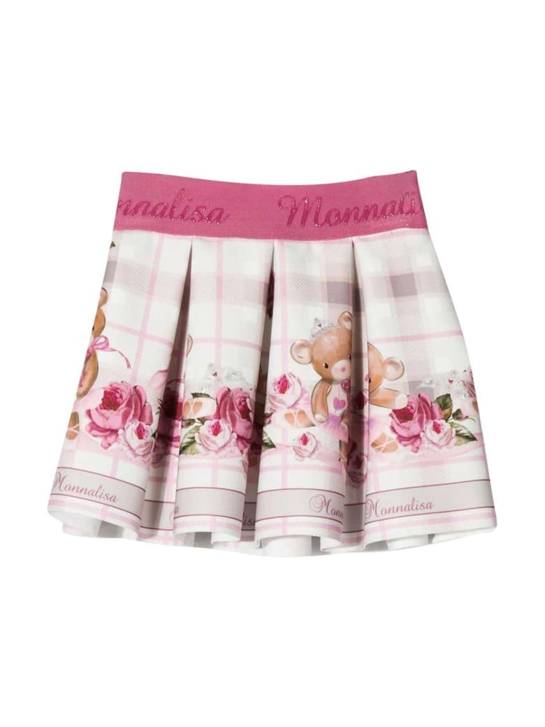 Monnalisa Light Pink Skirt With Press