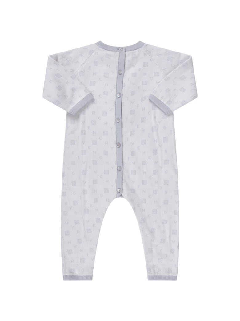 Givenchy Light Blue Babygrow With Logos For Babykid - Blu cielo
