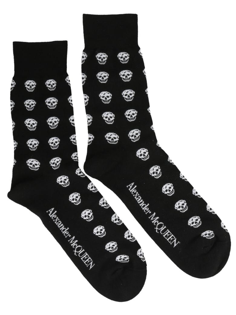 Alexander McQueen Skull Socks - Black