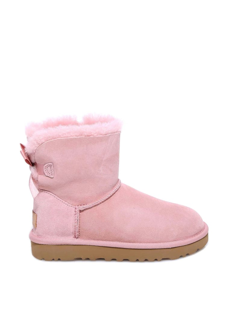 UGG Mini Bailey Bow Ii Ankle Boots - Pink