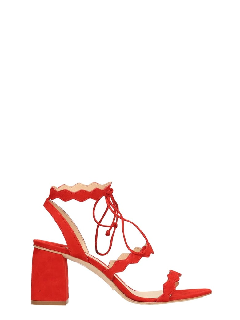 The Seller Red Suede Sandals - red