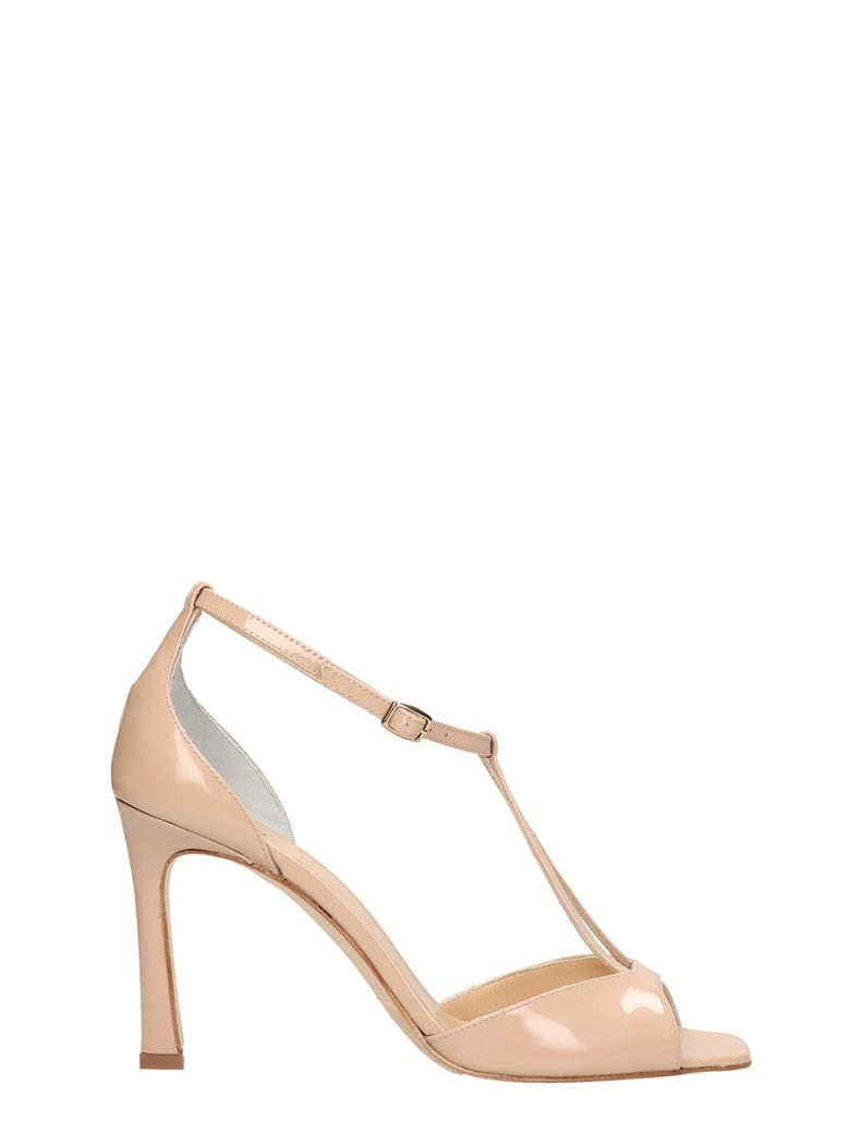 The Seller Nude Patent Leather Sandals - powder