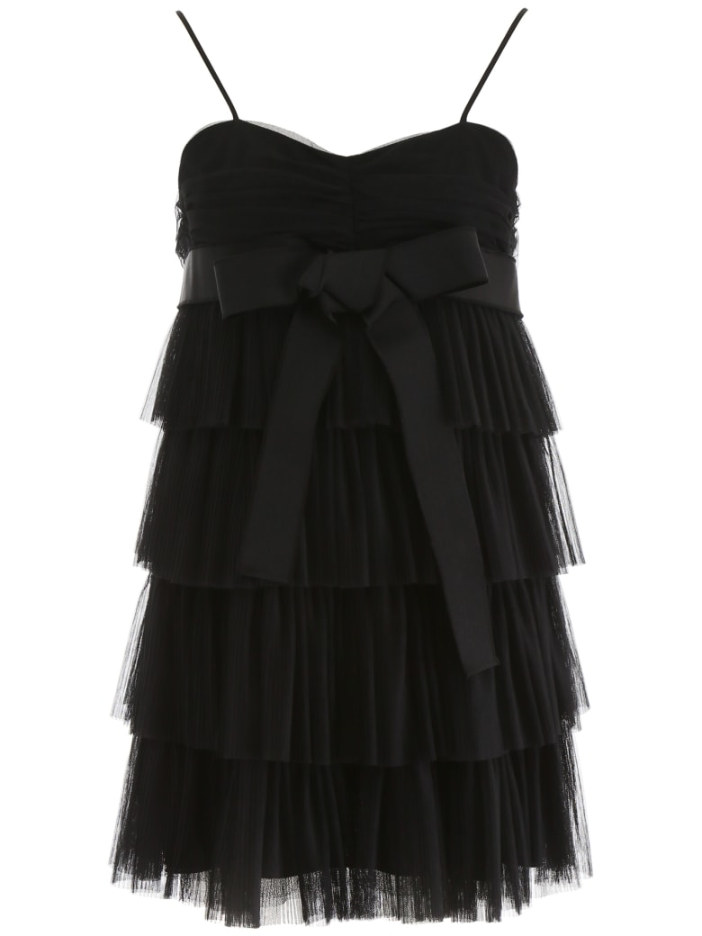 RED Valentino Layered Tulle Mini Skirt - NERO (Black)