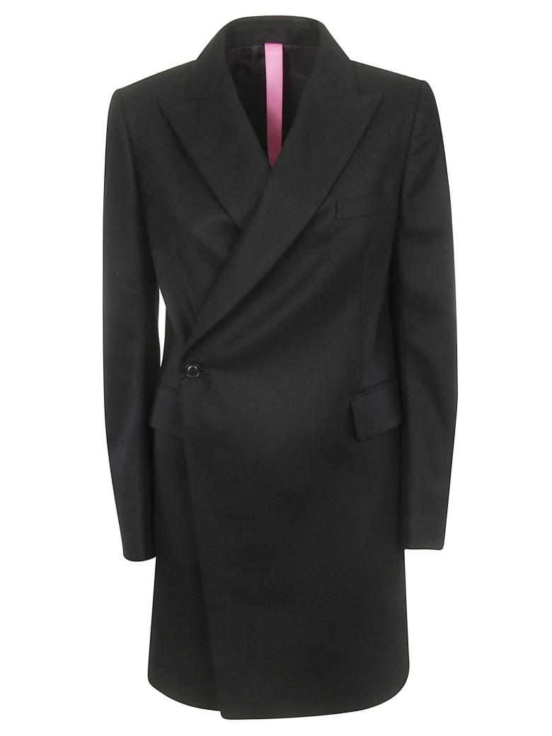 Y's Buttoned Coat - Black