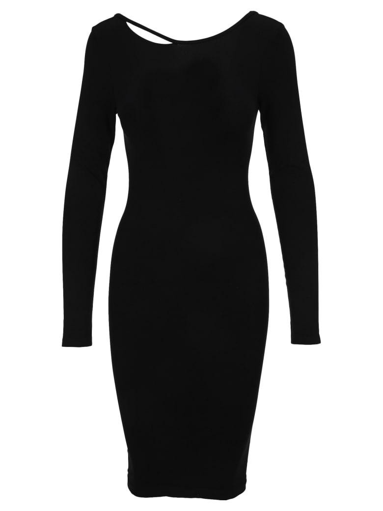 Helmut Lang V-back Dress - BLACK