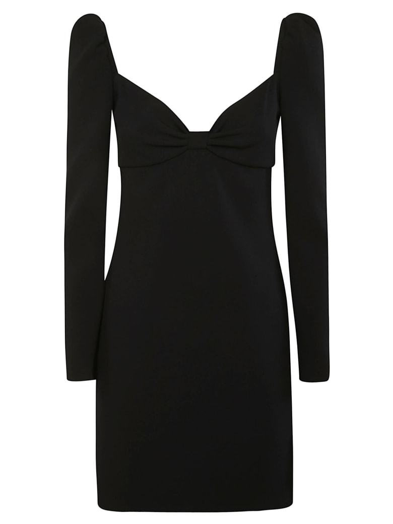 RED Valentino Bow Applique Front Dress - Black