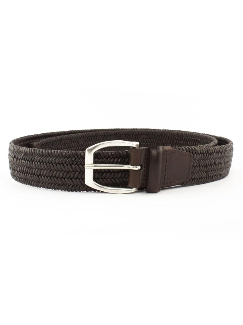 Orciani Brown Leather Belt - Testa Di Moro