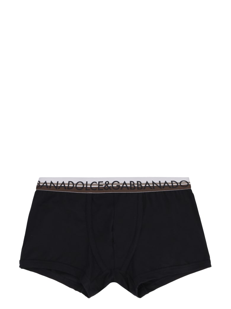 Dolce & Gabbana Stretch Cotton Boxer - White