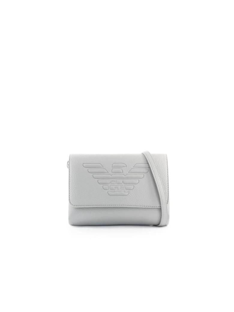 Emporio Armani Maxi Logo Pearl Grey Shoulder Bag - Dust (Grey)