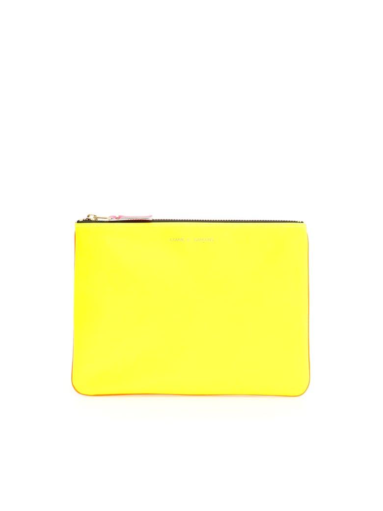 Comme des Garçons Wallet Unisex Super Fluo Pouch - YELLOW ORANGE (Yellow)