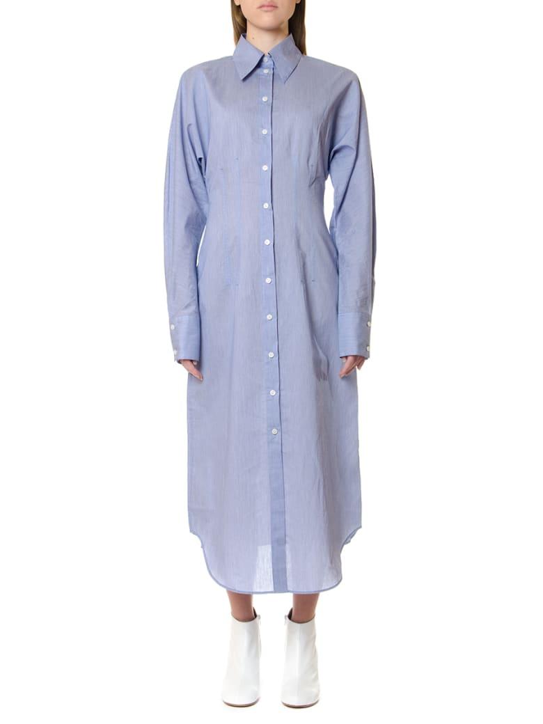 Acne Studios Oversize Powder Blue Shirt Dress - Powder blue