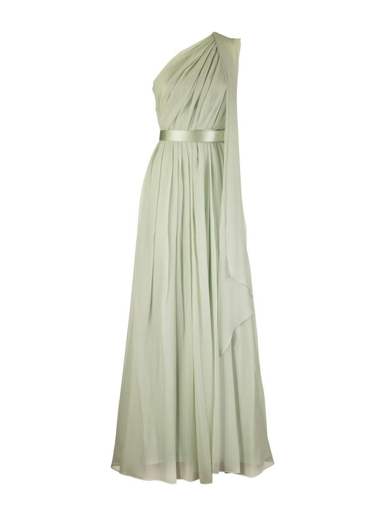 Max Mara Berger Silk Georgette Dress - Green Water