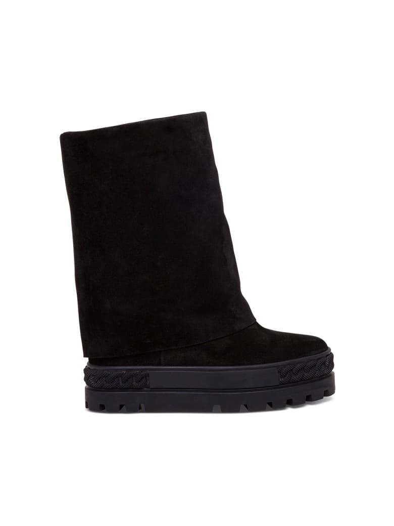 Casadei Cuffed Boots - Black