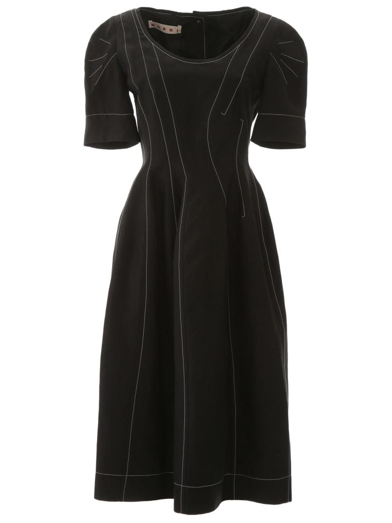 Marni Dress With Stitching - BLACK (Black)