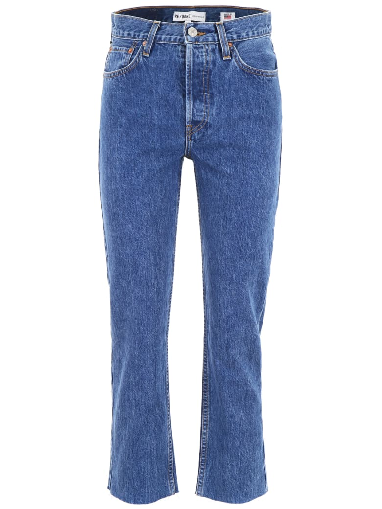 RE/DONE Straight Jeans - SEVENTIES AS FUCK (Blue)