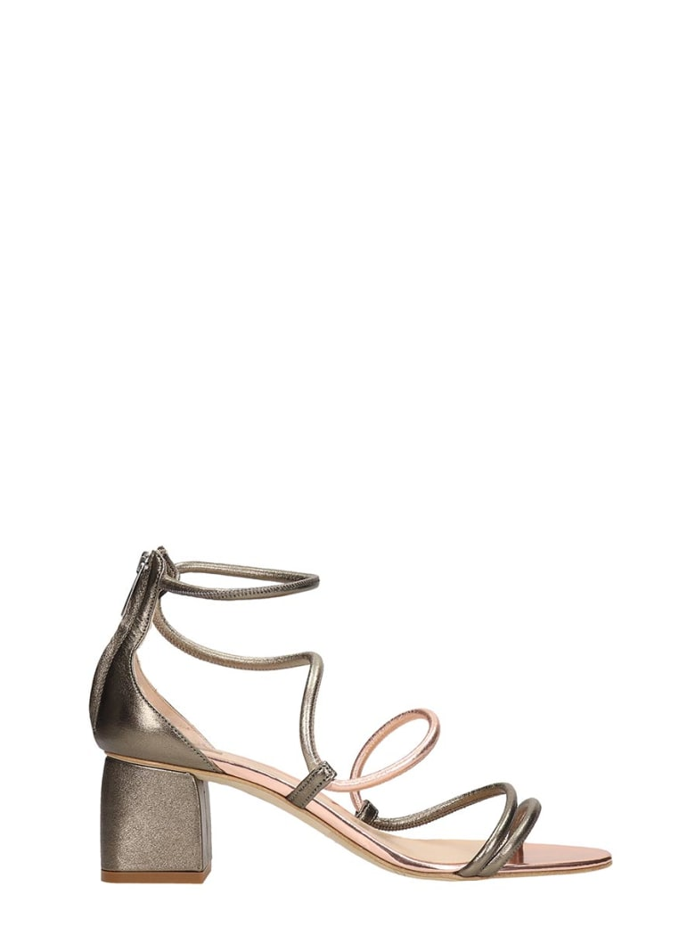 The Seller Grey Leather Sandals - grey