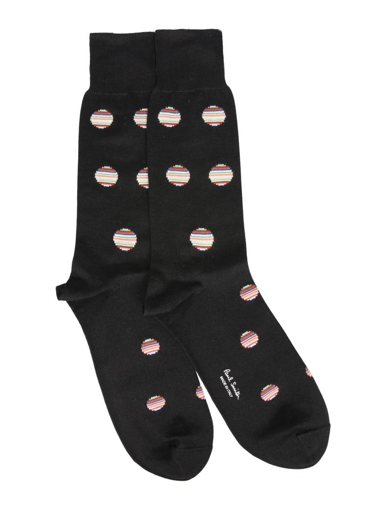 Paul Smith Polka Dot Multistripes Socks - NERO