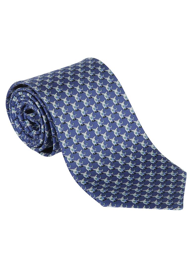 Salvatore Ferragamo Niro Tie - Blue