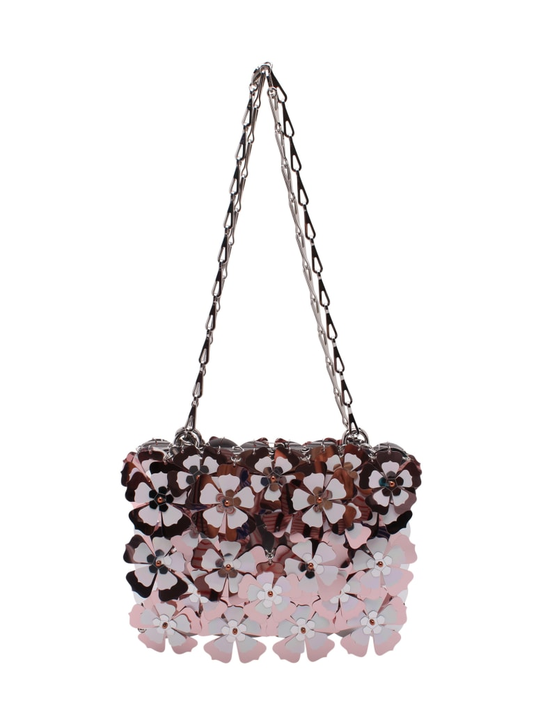 Paco Rabanne 'sparkle Bloom' Pvc Shoulder Bags - Light Pink