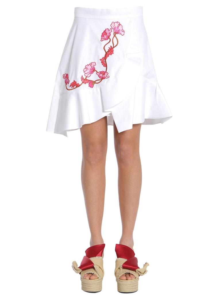 Carven Ruffled Skirt - BIANCO