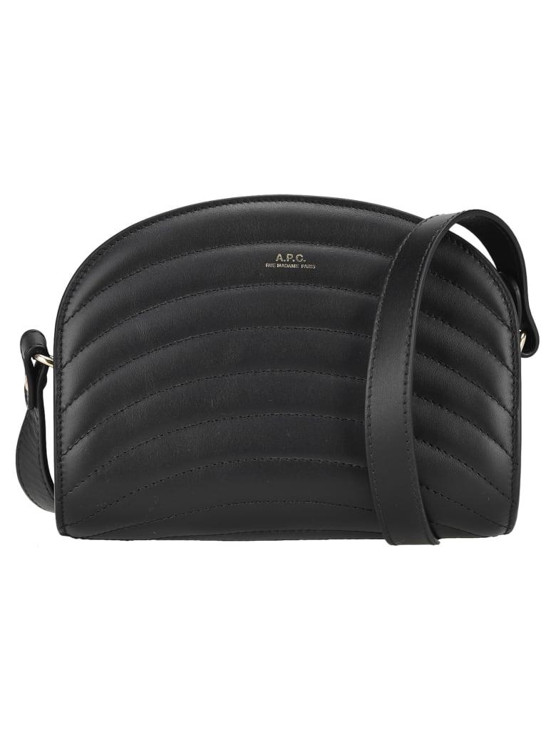 A.P.C. Demi-lune Mini Bag - BLACK