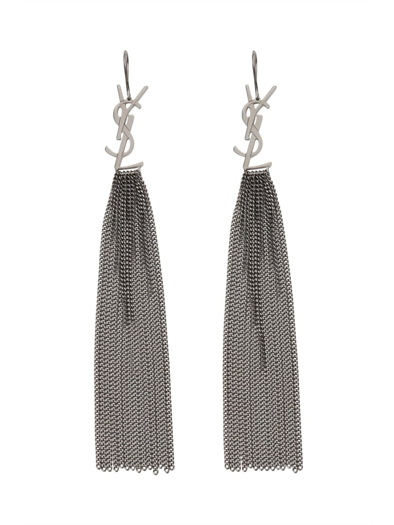 Saint Laurent Monogram Chain Earrings In Brass - Metal