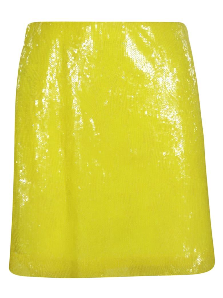 Alberta Ferretti Sequin Mini Skirt - Yellow