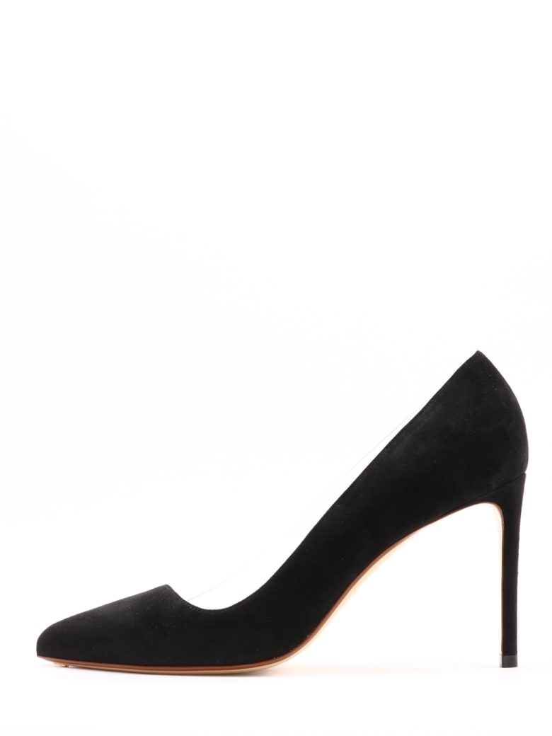 Francesco Russo Décolleté Suede And Plexi - Black