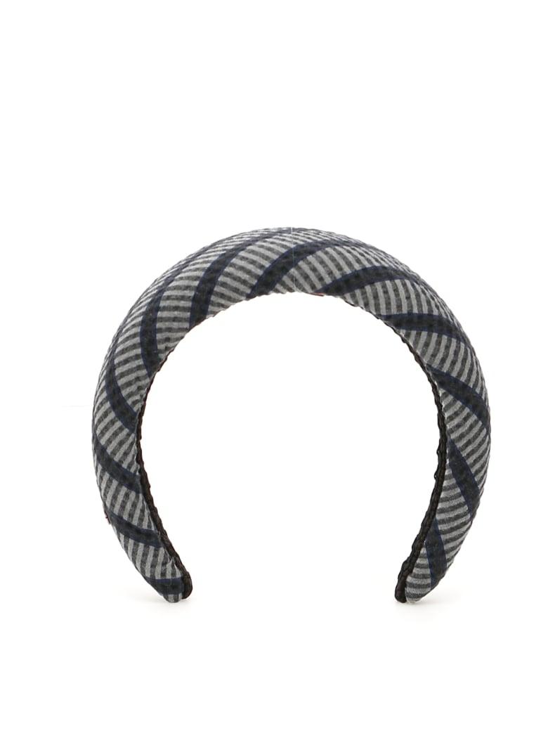 Flapper Striped Odette Headband - CHARCOAL (Black)