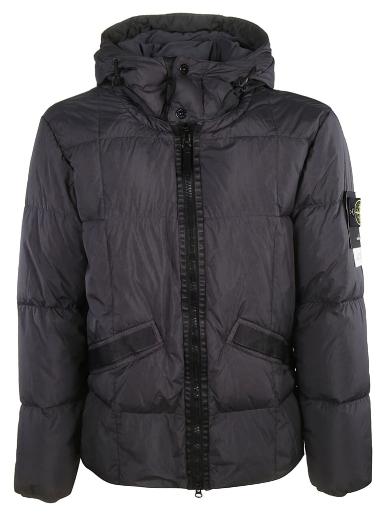new release exquisite style how to buy Stone Island Stone Island Straight Hooded Padded Jacket - Fumo ...