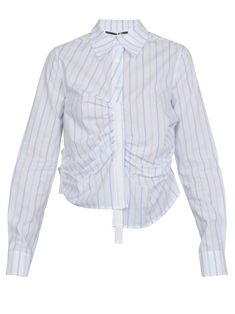 McQ Alexander McQueen Striped Shirt - PALE BLUE/WHITE