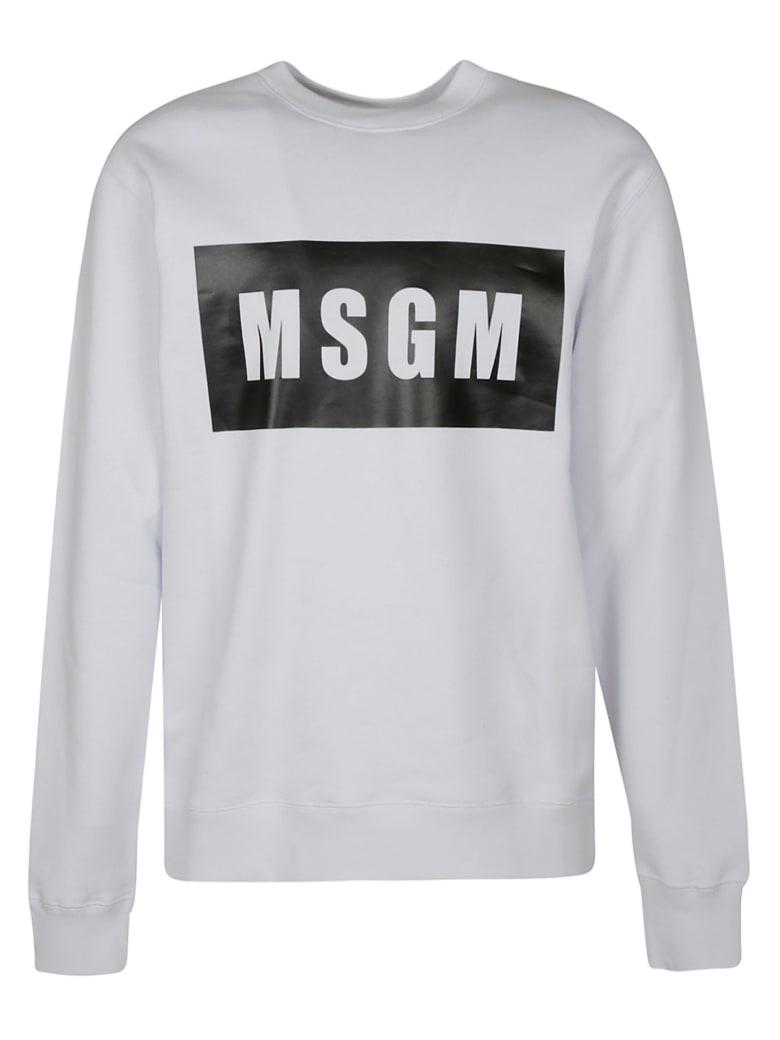 MSGM Chest Logo Sweatshirt - White
