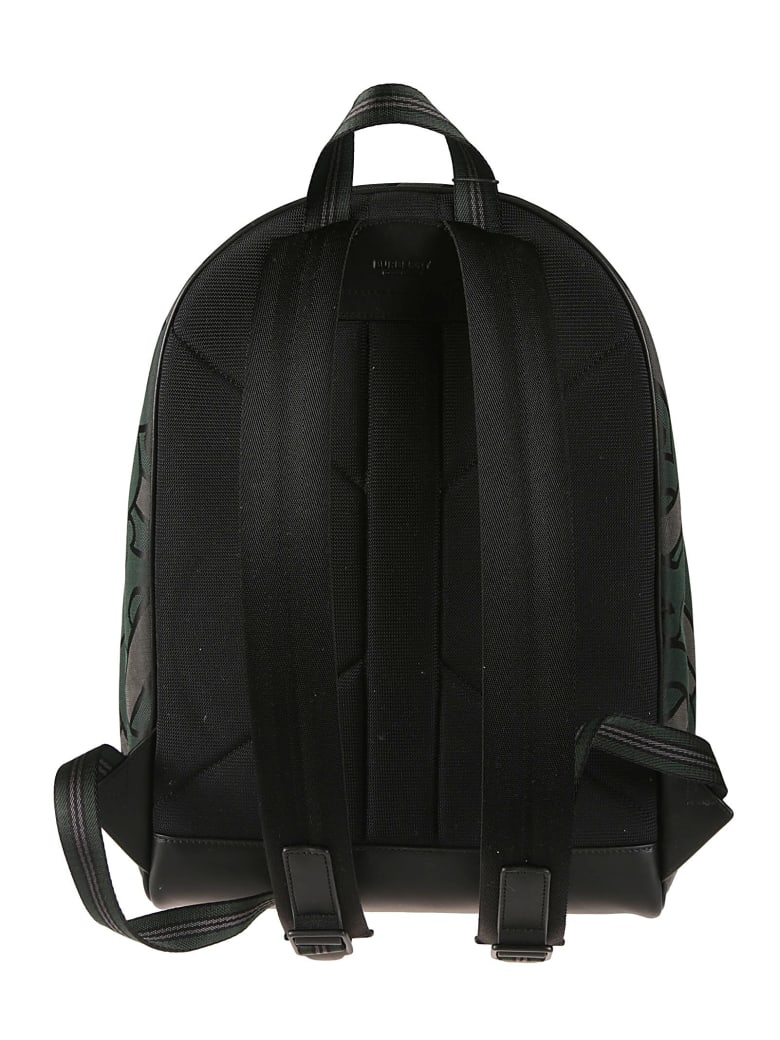 Burberry Logo Patch Backpack - Forest Green