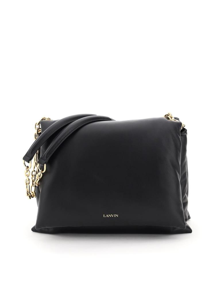 Lanvin Sugar Medium Padded Shoulder Bag - BLACK (Black)