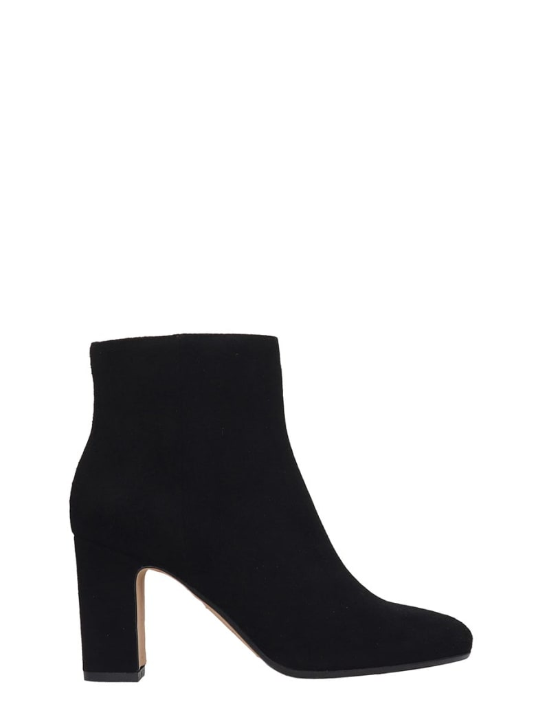 Julie Dee High Heels Ankle Boots In Black Suede - black