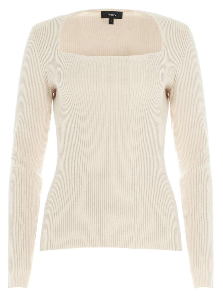 Theory 'portrait' Sweater - Beige