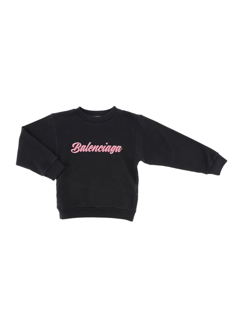 Balenciaga Crewneck Sweater Brushed Molleton Opulence - Nero