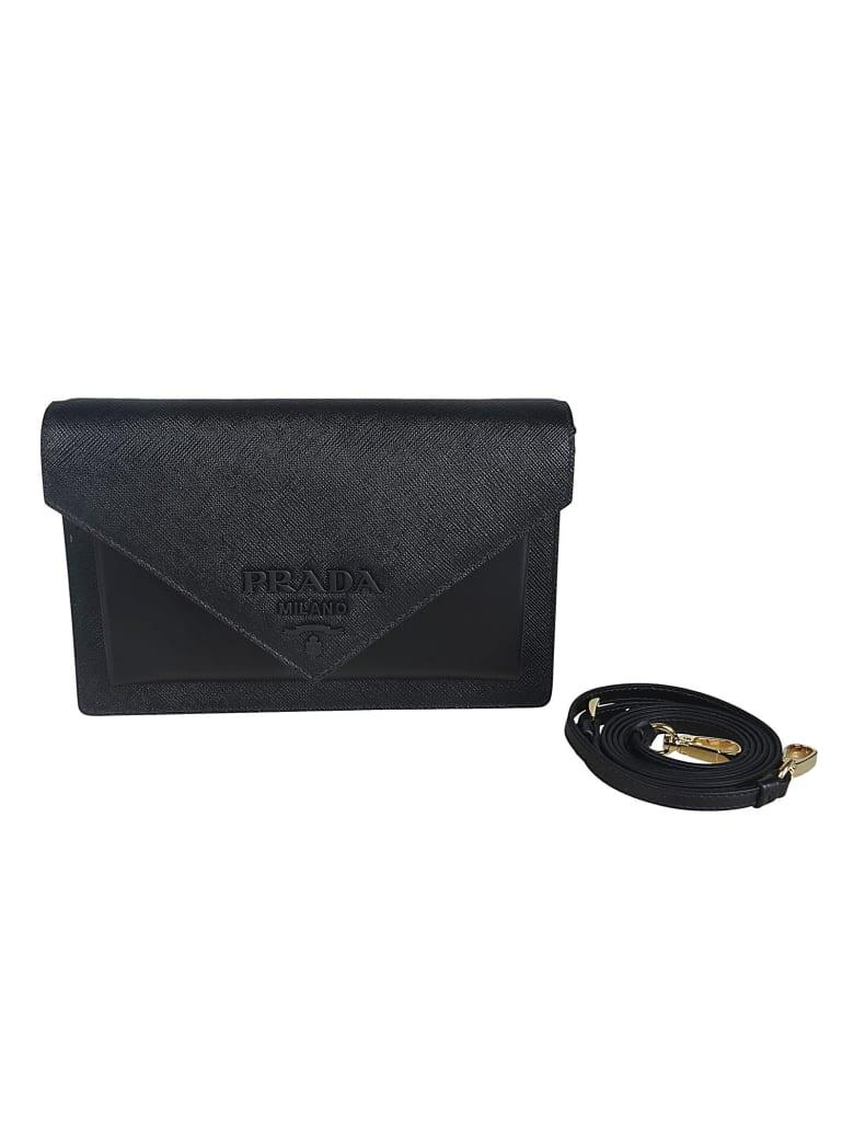 Prada Envelope Shoulder Bag - Black