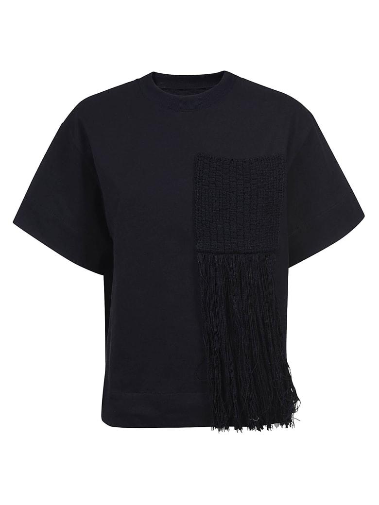 Jil Sander Chest Embroidered T-shirt - Black